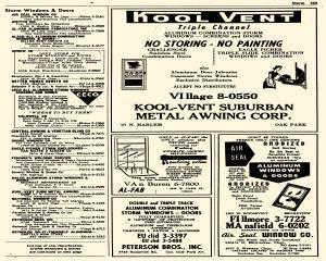 Oak Park Telephone Directory, May 01, 1956, Page 385