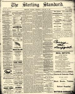 Sterling Standard, January 23, 1890, Page 1