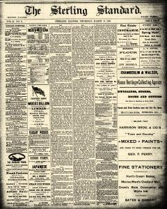 Sterling Standard, March 13, 1890, Page 1