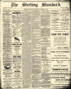 Sterling Standard, March 20, 1890, Page 1