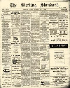 Sterling Standard, July 31, 1890, Page 1
