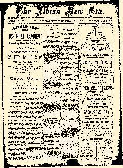 Albion New Era, August 28, 1884, Page 1