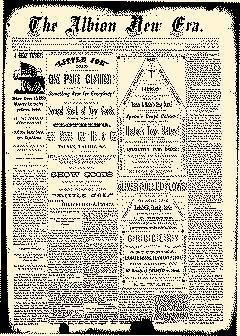 Albion New Era, September 11, 1884, Page 1