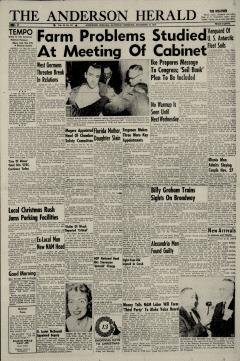 Anderson Herald, December 10, 1955, Page 1