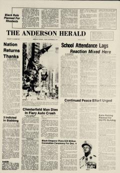 Anderson Herald, November 25, 1977, Page 1