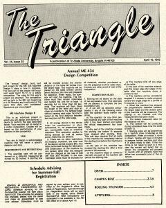 Tri State Triangle, April 16, 1992, Page 1