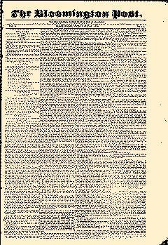 Bloomington Post, July 06, 1838, Page 1