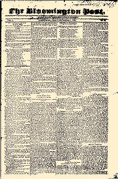 Bloomington Post, September 07, 1838, Page 1
