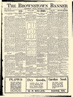Brownstown Banner, April 05, 1905, Page 1