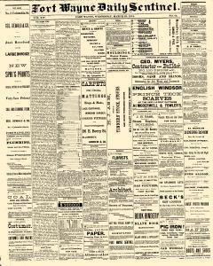 Fort Wayne Daily Sentinel, March 25, 1874, Page 1