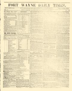 Fort Wayne Daily Times, October 27, 1855, Page 1