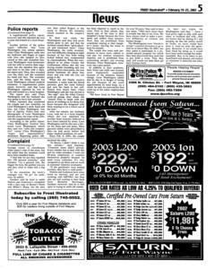Fort Wayne Frost Illustrated, February 19, 2003, Page 5