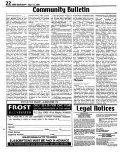 Fort Wayne Frost Illustrated, July 09, 2003, Page 22