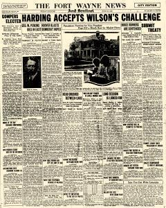 Fort Wayne News and Sentinel, June 18, 1920, Page 1