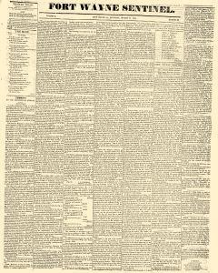 Fort Wayne Sentinel, March 19, 1842, Page 1