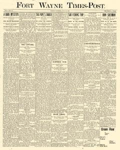 Fort Wayne Times Post, July 15, 1895, Page 1