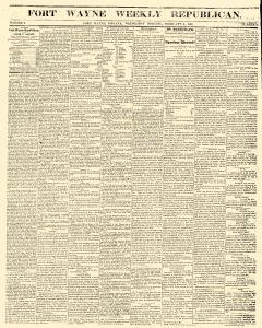 Fort Wayne Weekly Republican, February 08, 1860, Page 1
