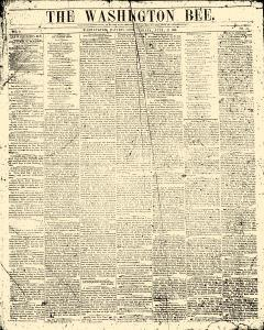 Washington Bee, July 24, 1858, Page 1