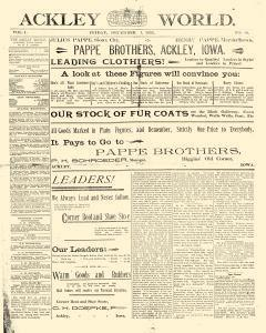 Ackley World, December 01, 1893, Page 1