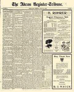 Akron Register Tribune newspaper archives