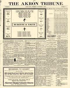 Akron Tribune newspaper archives