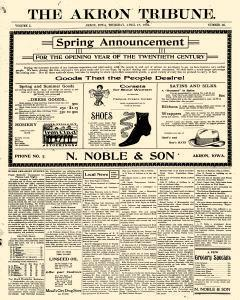Akron Tribune, April 18, 1901, Page 1