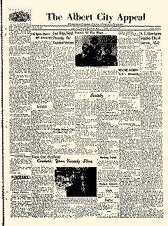 Albert City Appeal, October 12, 1950, Page 1