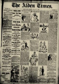 Alden Times, January 17, 1890, Page 1