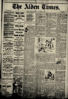 Alden Times, January 31, 1890, Page 1