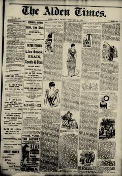Alden Times, February 21, 1890, Page 1