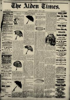 Alden Times, May 09, 1890, Page 1