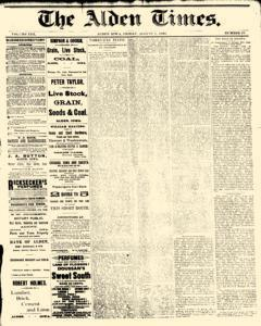 Alden Times, August 01, 1890, Page 1