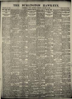 Burlington Hawk Eye, January 18, 1890, Page 1