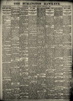Burlington Hawk Eye, February 04, 1890, Page 1
