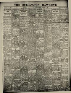 Burlington Hawk Eye, March 01, 1890, Page 1