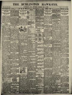 Burlington Hawk Eye, May 03, 1890, Page 1