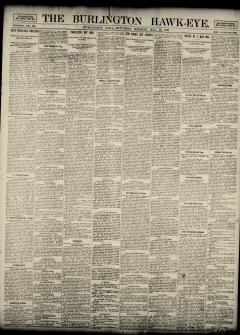Burlington Hawk Eye, May 10, 1890, Page 1