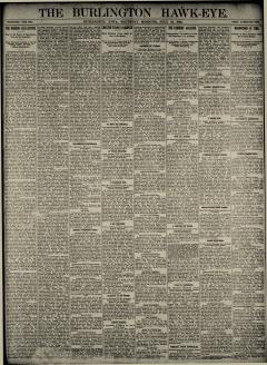 Burlington Hawk Eye, July 24, 1890, Page 1