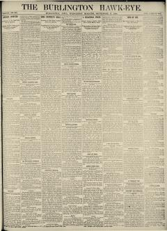 Burlington Hawk Eye, September 17, 1890, Page 1