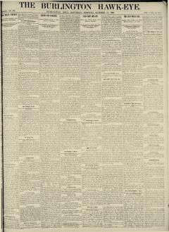 Burlington Hawk Eye, October 11, 1890, Page 1