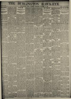 Burlington Hawk Eye, October 14, 1890, Page 1