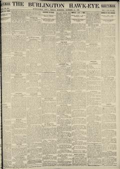 Burlington Hawk Eye, October 31, 1890, Page 1