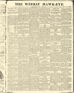 Weekly Hawk Eye And Telegraph, June 07, 1883, Page 1