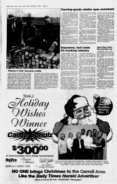 Carroll Daily Times Herald, December 08, 2000, Page 20