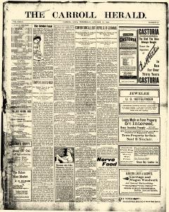 Carroll Herald, October 10, 1900, Page 1
