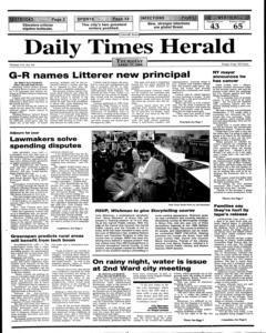 Daily Times Herald, April 27, 2000, Page 1
