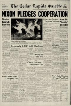 Cedar Rapids Gazette, March 06, 1974, Page 1
