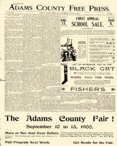 Adams County Free Press, August 30, 1900, Page 1