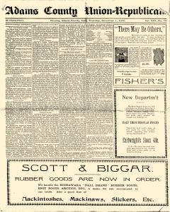 Adams County Free Press newspaper archives