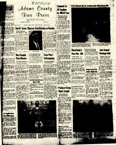 Adams County Free Press, March 20, 1969, Page 1